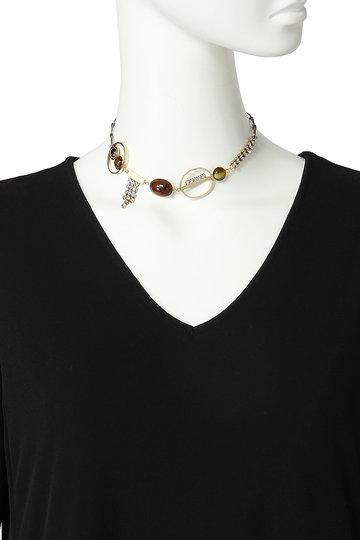 アデル ビジュー/ADER.bijouxのEARTH ショートネックレス(ブリック×ゴールド/RN-1103)