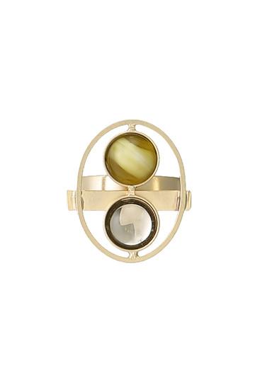 アデル ビジュー/ADER.bijouxのEARTH ラウンドリング(ゴールド/RR-1103)