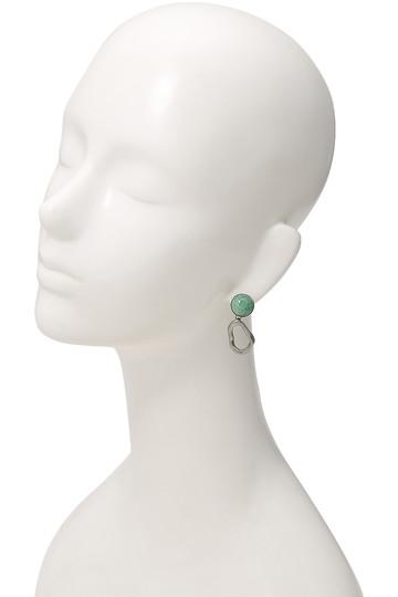 アデル ビジュー/ADER.bijouxのCOSMO ストーンイヤリング(グリーン×シルバー/RE-1109E)