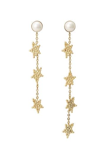 アデル ビジュー/ADER.bijouxのCUTSTEEL スターロングピアス(ゴールド/RE-1112P)