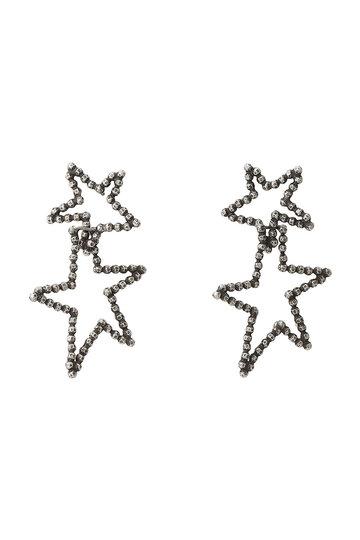 アデル ビジュー/ADER.bijouxのCUTSTEEL スターダブルフープピアス(シルバー/RE-1114P)