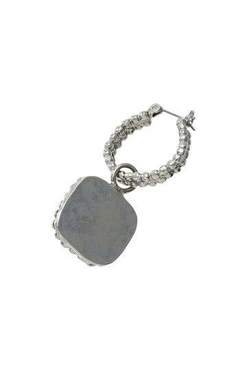 アデル ビジュー/ADER.bijouxのCUT STEEL バロックパール2wayフープピアス(ゴールド/RE-1117 P)
