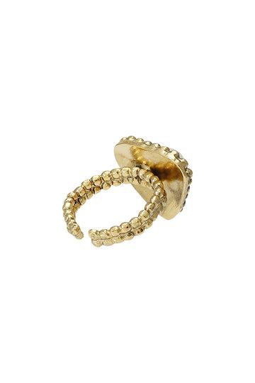 アデル ビジュー/ADER.bijouxのCUT STEEL バロックパールリング(ゴールド/RR-1106)