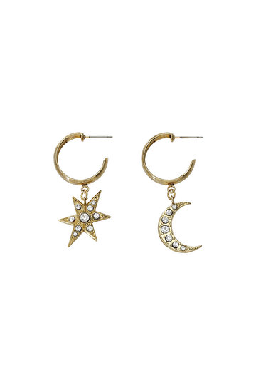 アデル ビジュー/ADER.bijouxのMOON & STAR フープピアス(ゴールド/RE-1115 P)