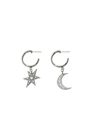 アデル ビジュー/ADER.bijouxのMOON & STAR フープピアス(シルバー/RE-1115 P)
