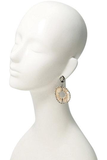 アデル ビジュー/ADER.bijouxのVITRAIL ラタンフープイヤリング(シルバー/RE-1155E)