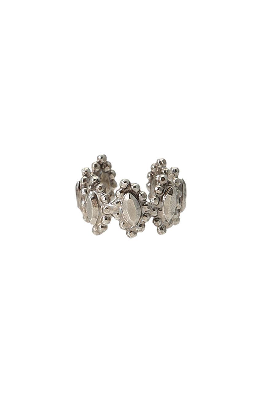 アデル ビジュー/ADER.bijouxのCUT STEEL フラワーバンドリング(シルバー/RR-1163)