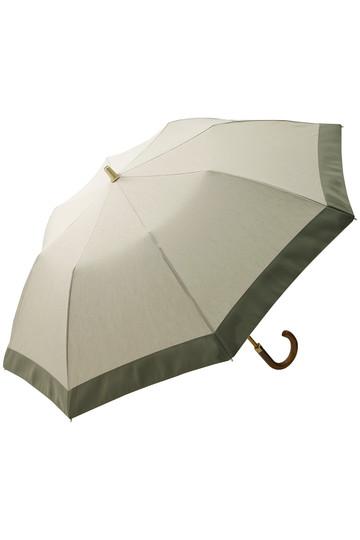 アシーナ ニューヨーク/Athena New Yorkのグログランリボン折り畳み傘(ベージュ×ライトカーキ/ANY-18P-05)