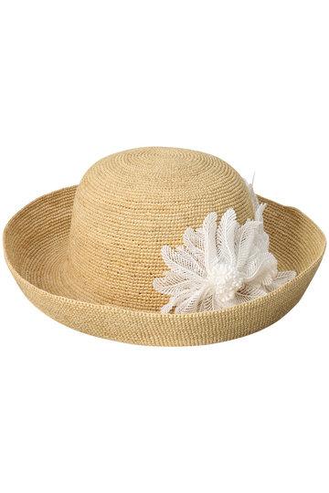 アシーナ ニューヨーク/Athena New YorkのHalona Feather ハット(ナチュラル×ホワイト/Halona Feather)