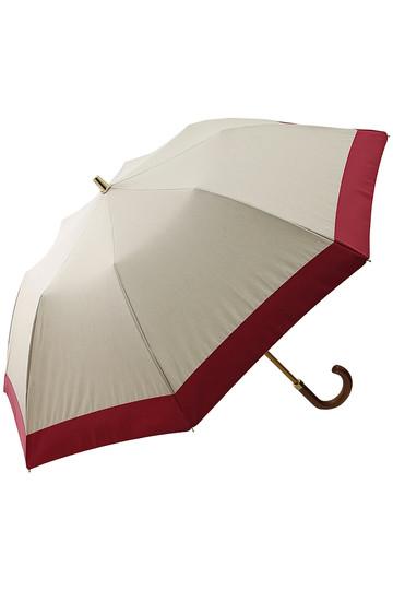 アシーナ ニューヨーク/Athena New Yorkのグログランリボン折り畳み日傘(ベージュ×レッド/ANY-18P-05)