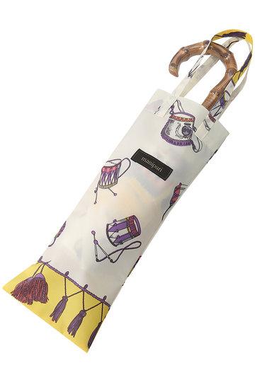 マニプリ/manipuriのスカーフ柄晴雨兼用折り畳み傘(イエロー(Festival)/Relief)