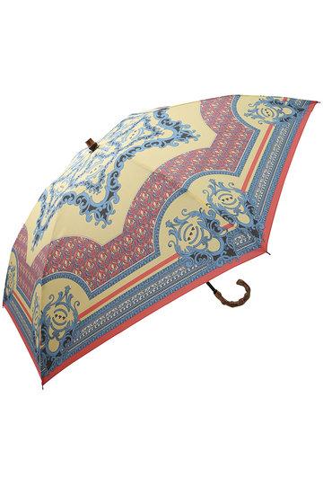 マニプリ/manipuriのスカーフ柄晴雨兼用折り畳み傘(イエロー(Relief)/A-2)