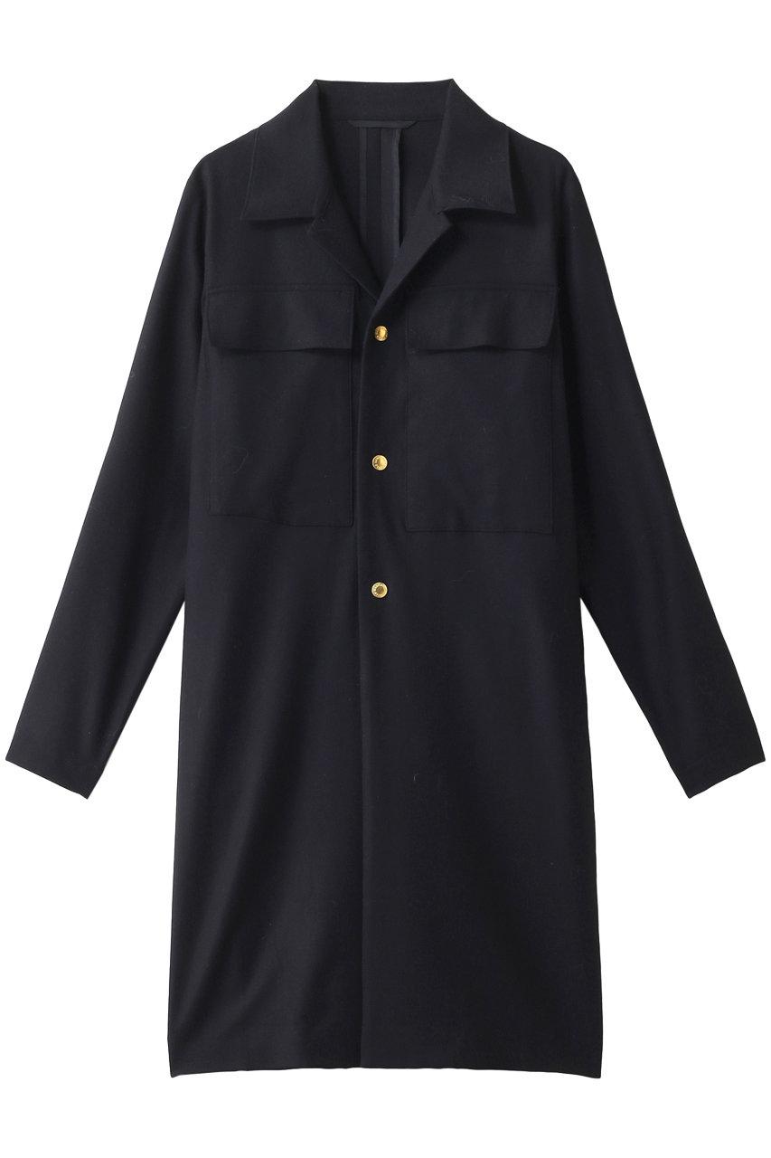 マディソンブルー/MADISONBLUEのオープンカラーシャツコート(ネイビー/MB194-2006)