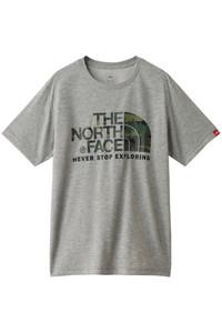 <ELLE SHOP> THE NORTH FACE ザ・ノース・フェイス メンズ(MENS)S/S カモフラージュロゴTシャツ ミックスグレー