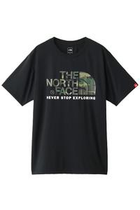 <ELLE SHOP> THE NORTH FACE ザ・ノース・フェイス メンズ(MENS)S/S カモフラージュロゴTシャツ ブラック