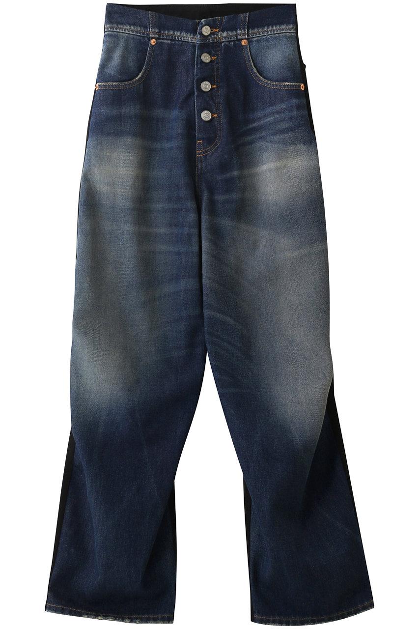 エムエム6 メゾン マルジェラ/MM6 Maison Margielaの5ポケットフロントフライパンツ(ヴィンテージウォッシュ/ブラック/S52LA0152STZ019)