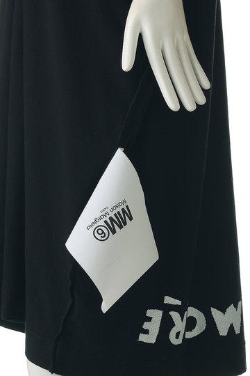エムエム6 メゾン マルジェラ/MM6 Maison Margielaの【Capsule】プリントドレス(ブラック/ホワイトプリント/S62CT0026)