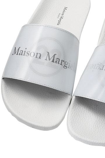 メゾン マルジェラ/Maison Margielaのソフトレザーホログラムサンダル(オフホワイト/ブラック/S39WX0021)