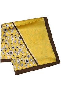 <ELLE SHOP> JET ジェット 【JET LOSANGELES】オリジナル花柄ストール キャメル画像