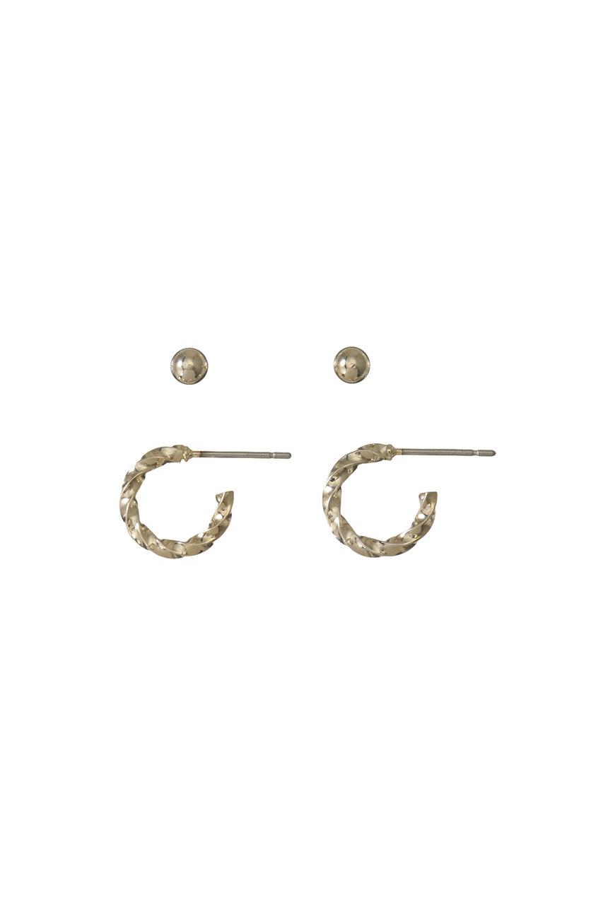 ジェット/JETの【JET LOSANGELES】ツイステッドピアス(ゴールド/C80-02208)