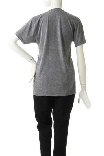 ジェット/JETの【JET John Eshaya】VスリットプリントTシャツ(ブラック/C80-16318)