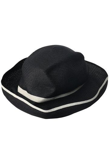 マチュアーハ/mature ha.のBOXED HAT スイッチカラーライン(11cm brim)(ブラック×ホワイト/MBOX-101SW)