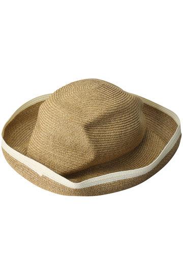 マチュアーハ/mature ha.のBOXED HAT スイッチカラーラインエッジ(11cm brim)(ミックスブラウン×ホワイト/MBOX-101SWE)