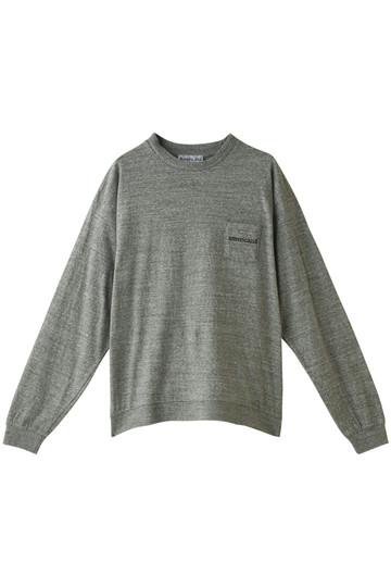 Americana アメリカーナ 裾リブビッグTシャツ トップグレー