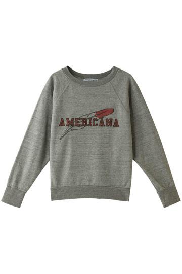 Americana アメリカーナ 60's ショート丈ラグランスウェット トップグレー