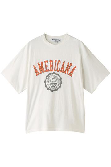 Americana アメリカーナ Americana カレッジTシャツ(ヴィンテージ加工) オフホワイト