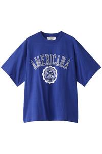 <ELLE SHOP>Americana カレッジTシャツ(ヴィンテージ加工) ロイヤルブルー画像
