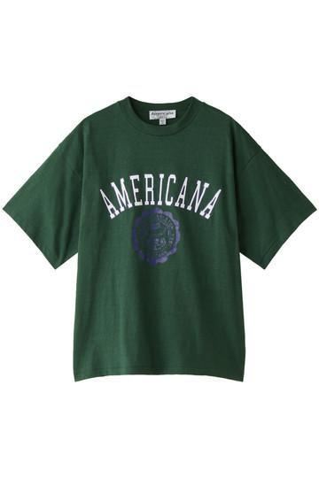 Americana アメリカーナ Americana カレッジTシャツ(ヴィンテージ加工) グリーン