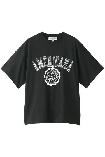 アメリカーナ/AmericanaのAmericana カレッジTシャツ(ヴィンテージ加工)(ブラック/BRF-339A/5)