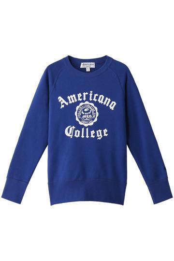 Americana アメリカーナ ラグランクルースウェット ブルー