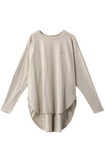 Americana アメリカーナ ラフィー天竺 バックヘンリーネックロングTシャツ オートミール