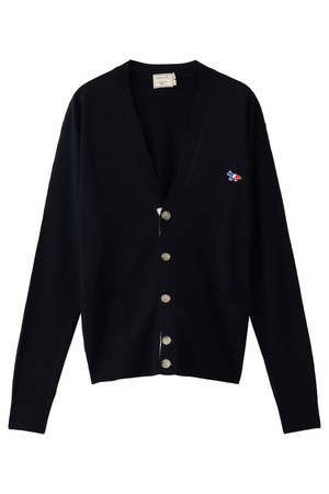 【MEN】Virgin Wool Classic カーディガン メゾン キツネ/MAISON KITSUNE
