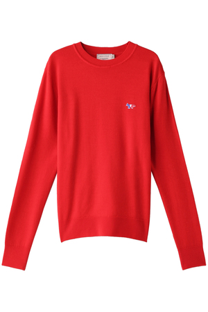 【UNISEX】VIRGIN WOOL R-NECK PULLOVER メゾン キツネ/MAISON KITSUNE