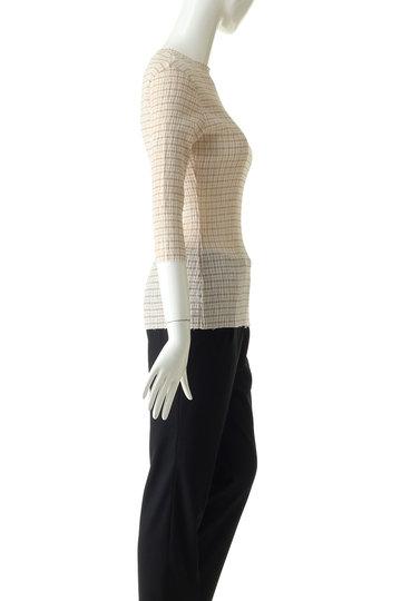 ルシェルブルー/LE CIEL BLEUのシャーリングジャージーTシャツ(ベージュ/21A62206)