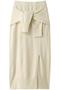 カシミアブレンドリラックスニットスカート(セットアップ対応) アダワス/ADAWAS ミルク