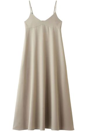 ウールブレンドツイルキャミドレス