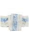 【帯問屋浅野】夏単帯 四寸三分紗 ウツクシイキモノ/美しいキモノ 白地×ブルー(ぶどう唐草)