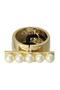 パール&メタルバー カフポニー フランス ラックス/France Luxe ゴールド