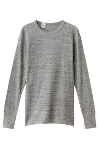 30%OFF!<ELLE SHOP>【UNISEX】【UNDER SUMMIT WEAR】5RCH クルーネックロングスリーブTシャツ トップグレー画像