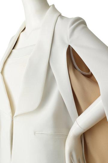 チノ/CINOHのポリエステルスリットスリーブスーツ(ホワイト/19RJK026)