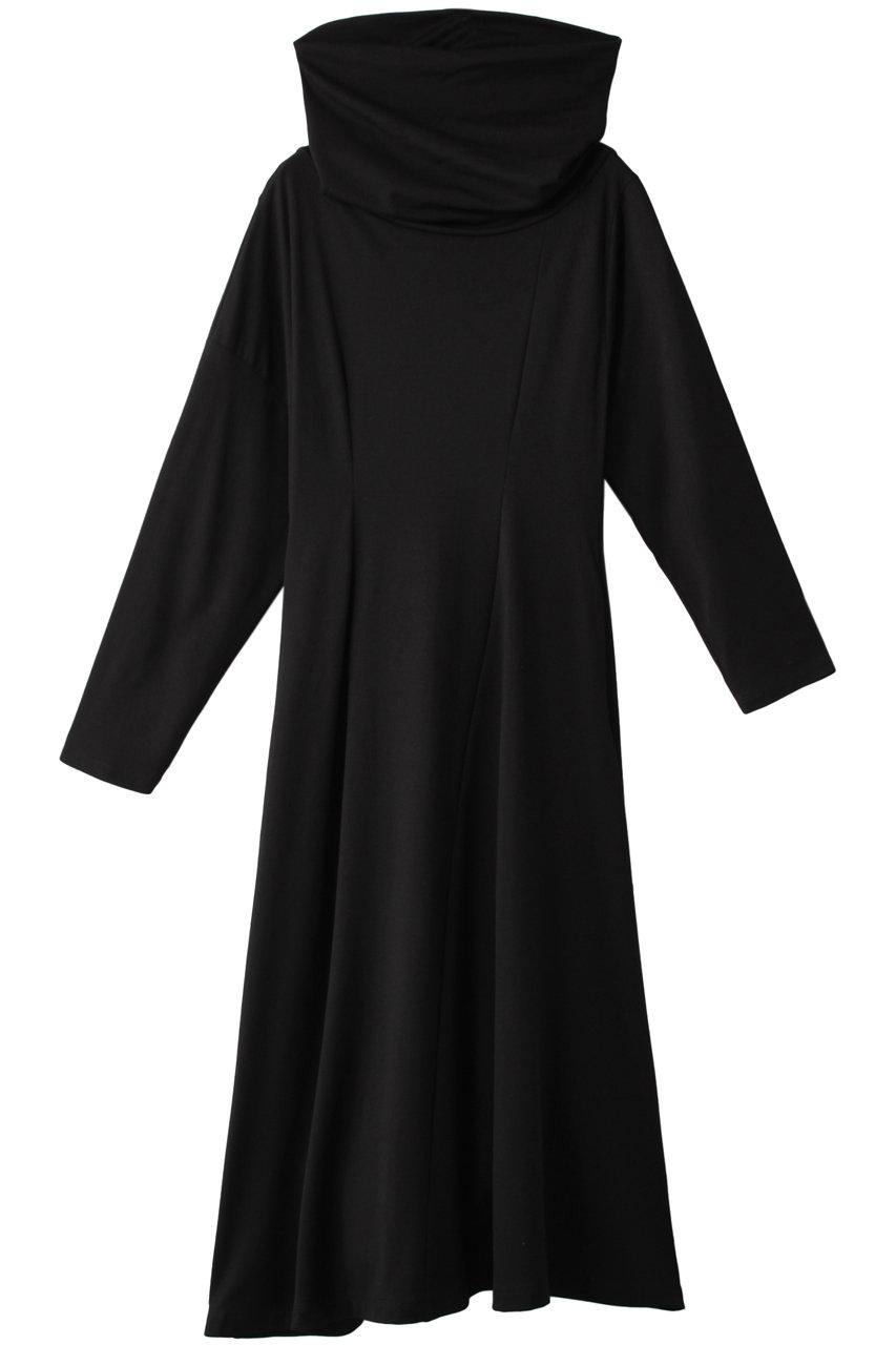 アキラナカ/AKIRANAKAのFilippaドレープカラードレス(ブラック/AW2004)