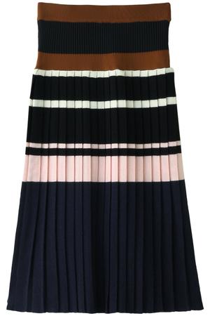 ボーダープリーツニットスカート アキラ ナカ/AKIRA NAKA