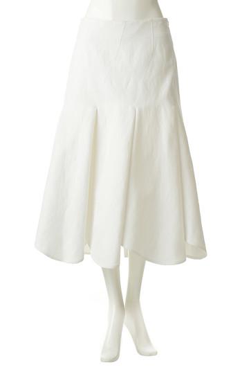 アキラナカ/AKIRANAKAのタックフレアスカート(ホワイト/AS1949)