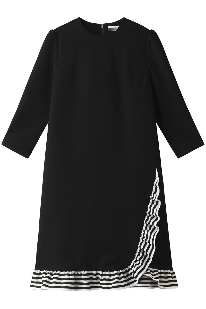 ボーダーズ アット バルコニー/BORDERS at BALCONYのトリミングドレス(ブラック/BD2021-3E-51)