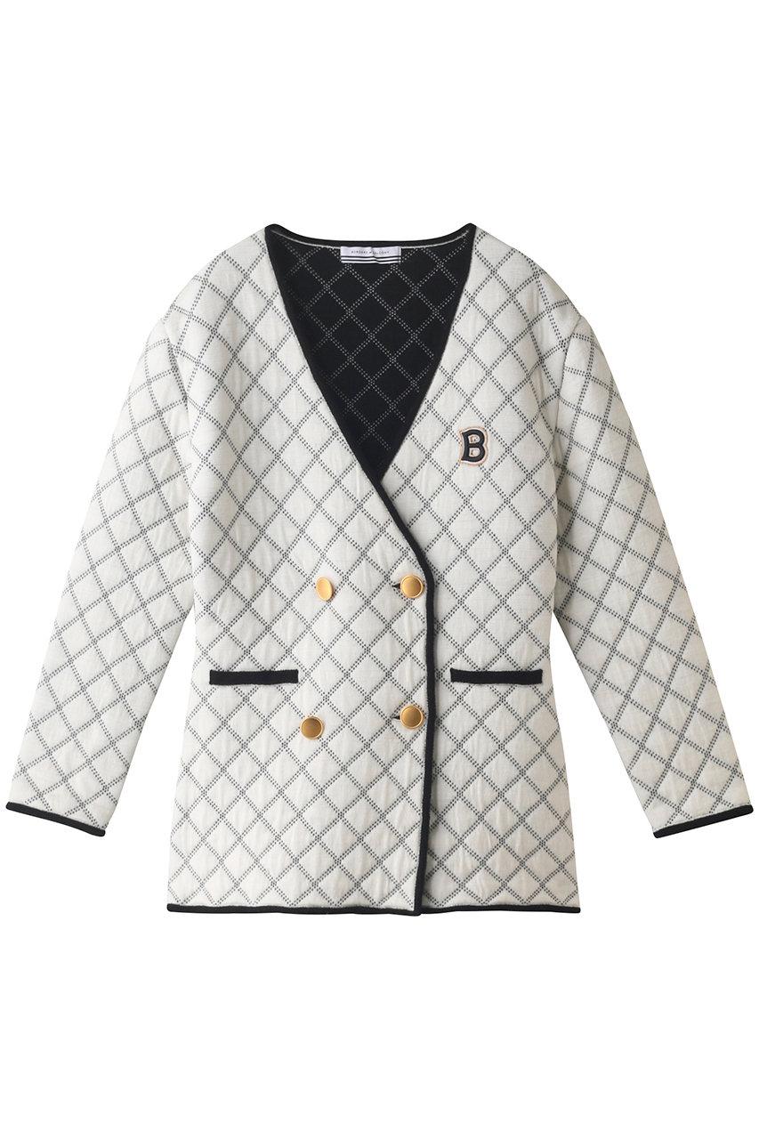 ボーダーズ アット バルコニー/BORDERS at BALCONYの【予約販売】ニットキルテッドジャケット(ホワイト/BD2121-1L-09)