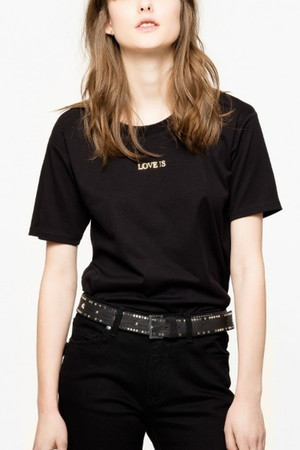 ELLIS BIS COTON LYCELL Tシャツ ザディグ エ ヴォルテール/ZADIG & VOLTAIRE